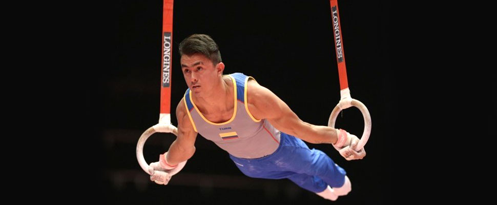 The gymnast Jossimar Calvo once wanted to be a soccer player.