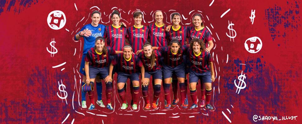 La financiación del fútbol femenino todavía está en pañales