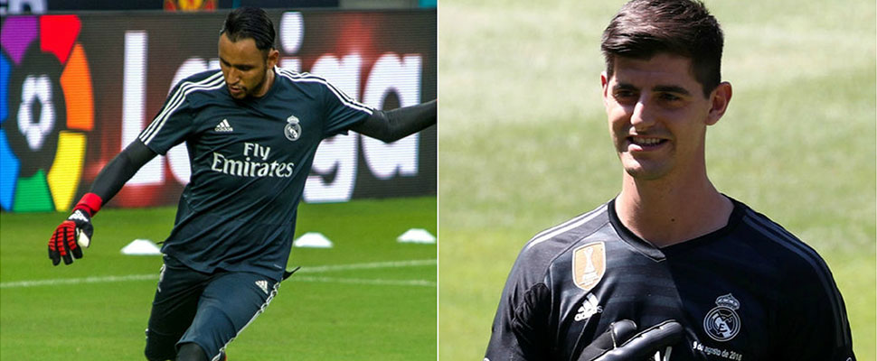 Image result for Zidane begins new Madrid era by replacing 'keeper Courtois' with Navas