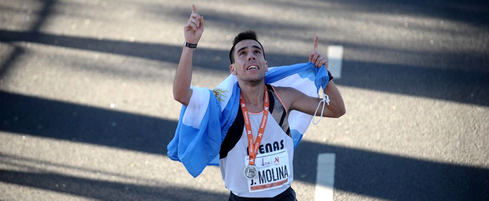 Julián Molina: The athlete who sold empanadas to run the Argentine Marathon