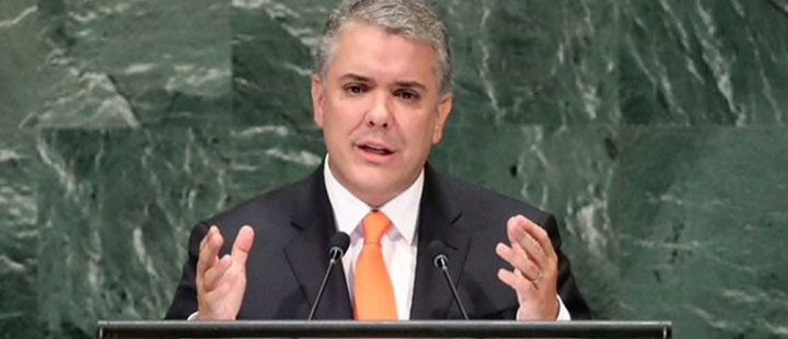 What did Ivan Duque say to the United Nations?