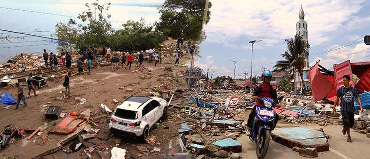 Terribles consecuencias dejan terremotos y tsunami en Indonesia