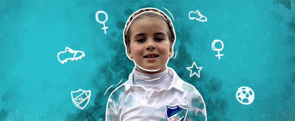 Mahia Macías: la niña uruguaya que revoluciona el fútbol