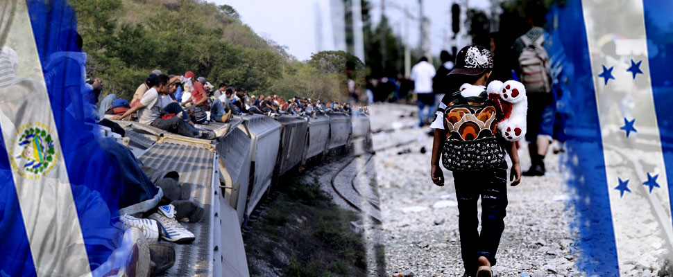 What is the cause of migration in El Salvador and Honduras?
