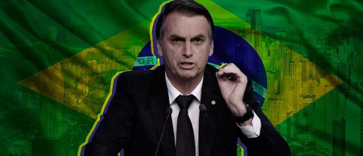 Muestra al candidato con el 46% del voto en la elección brasileña