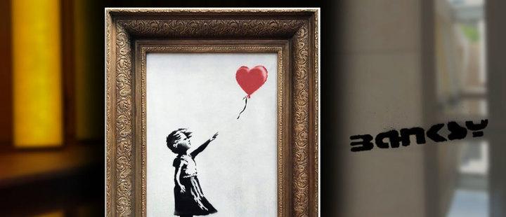 Banksy: la autodestrucción como forma de protesta