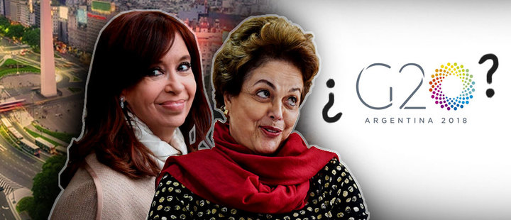This is the counter-summit led by Kirchner and Rousseff before the G20