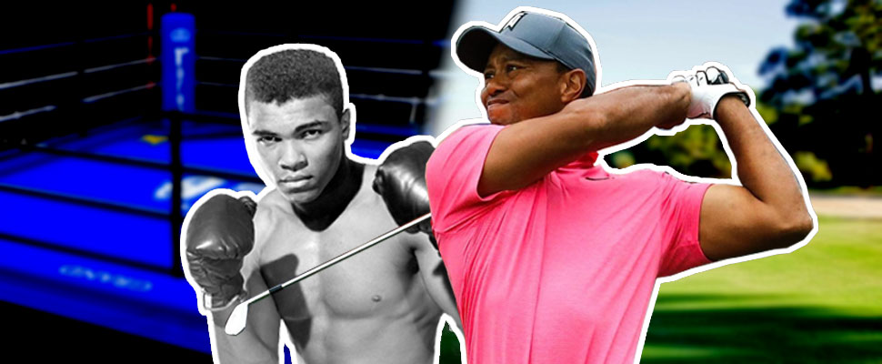 From oblivion to glory: from Muhammad Ali to Tiger Woods