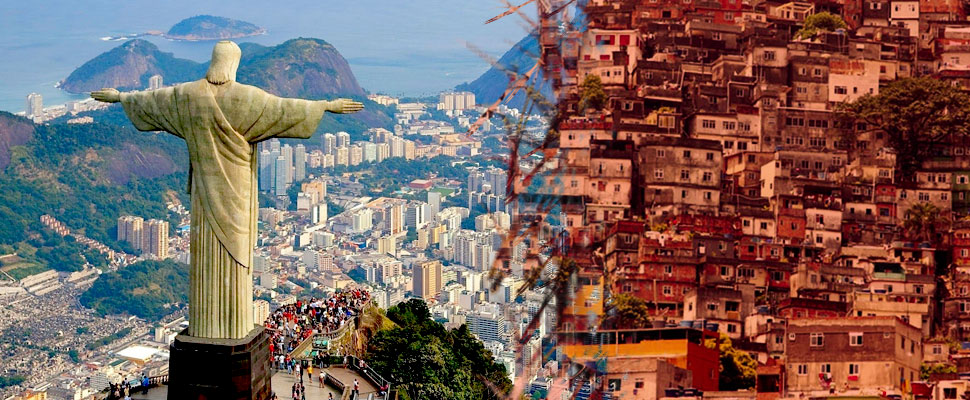 the favelas in rio de janeiro where violence is normal