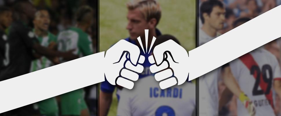 Estas son las 5 peleas más escandalosas del fútbol latino