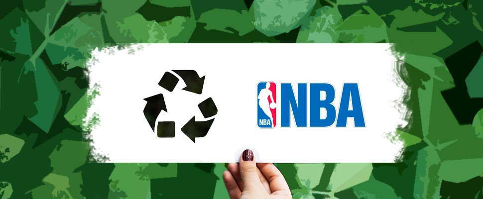 What does the NBA do to take care of the environment?