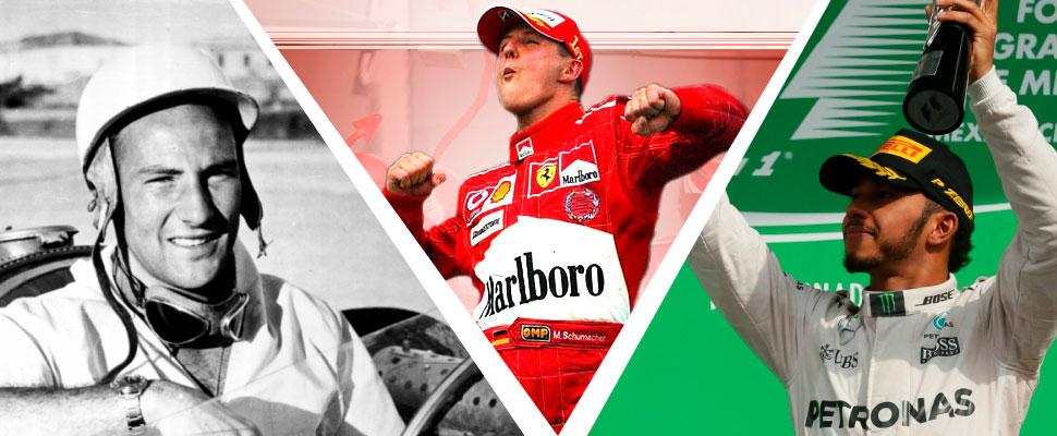 Conoce los mejores récords y algunas curiosidades de la Fórmula 1