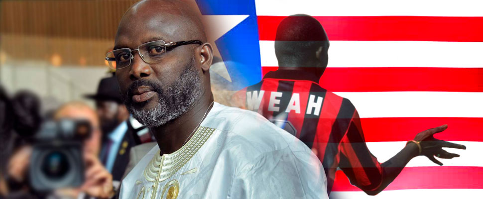 George Weah: the former footballer player who is now president of Liberia
