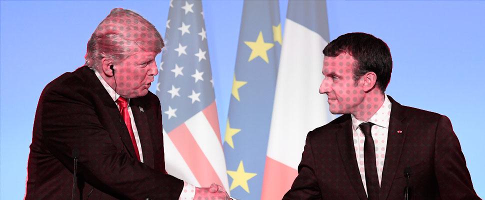 La visita de Trump a Francia tuvo un difícil comienzo
