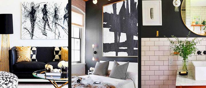 7 tips para decorar de negro tu casa sin oscurecerla