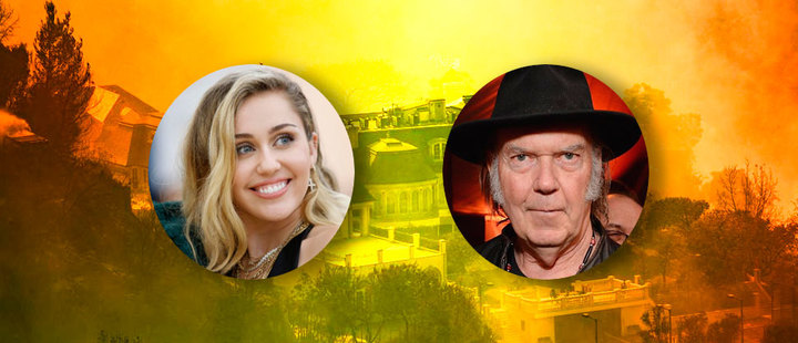These are the celebrities who lost their mansion in the California fire