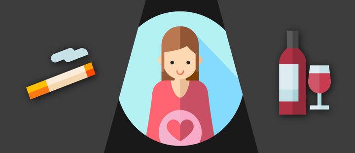 Conoce los riesgos reales de consumir alcohol y tabaco durante el embarazo