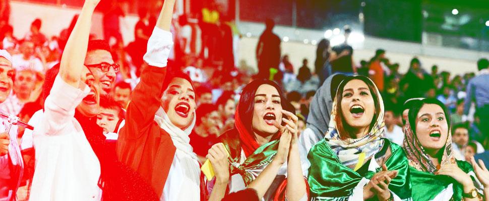 Suceso histórico: después de 37 años las iraníes han podido presenciar partidos de fútbol