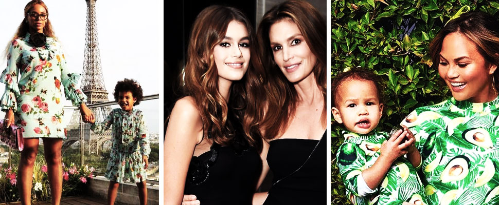 Look at this celebrity's best mother and daughter looks