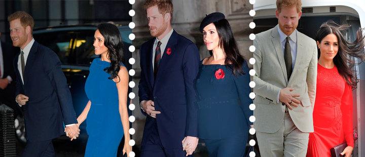 Mira los mejores looks de embarazo de Meghan Markle