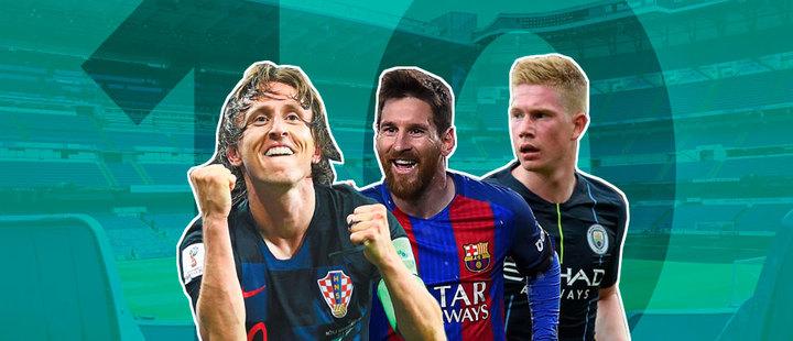 Top 10: estos son los mejores futbolistas de 2018