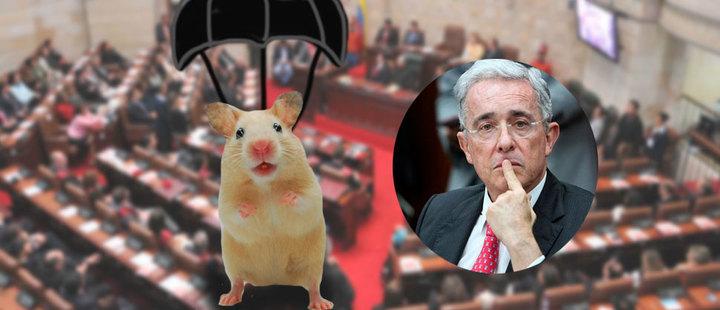 A Álvaro Uribe le lanzaron ratones en el senado