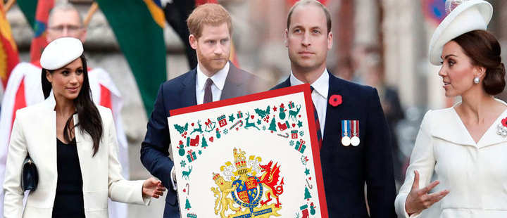 Estas son las tarjetas de navidad de la realeza británica