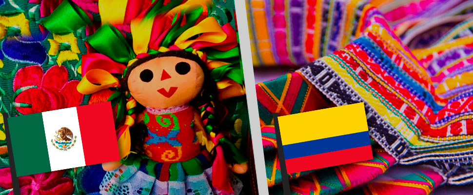 La artesanía latinoamericana: la historia de México y Colombia