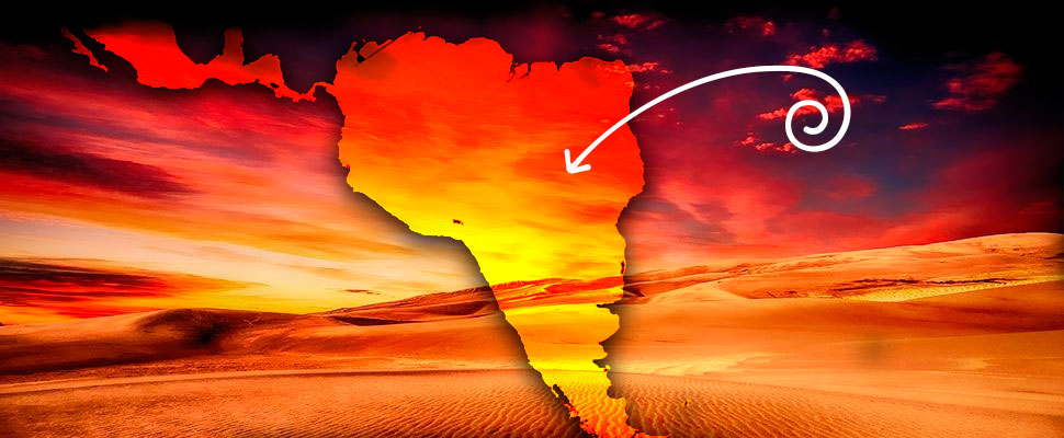 This is how the Saharan dust cloud affects Latin America