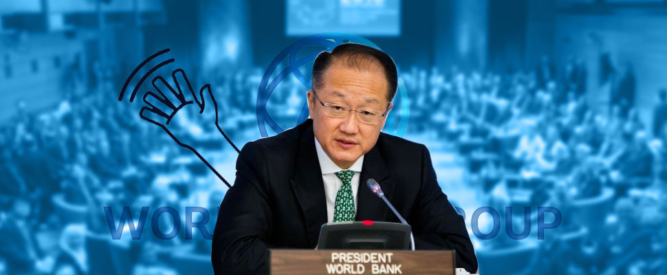 What does the resignation of the President of the World Bank mean?