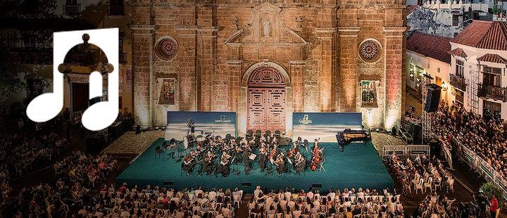 You can't miss the International Music Festival in Cartagena
