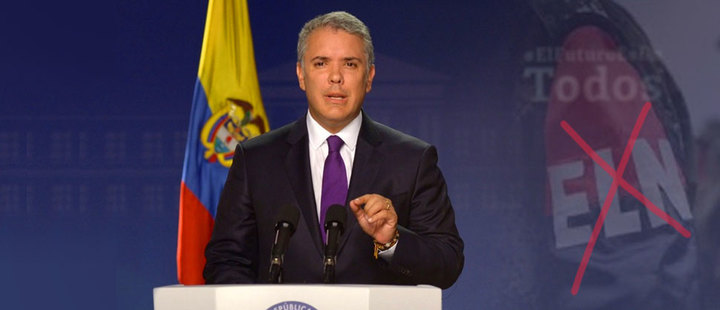 """Enough, ELN: Enough with deaths, kidnappings and attacks"": Iván Duque"