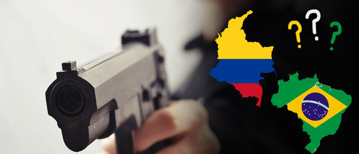 Colombia and Brazil towards the free carrying of weapons?