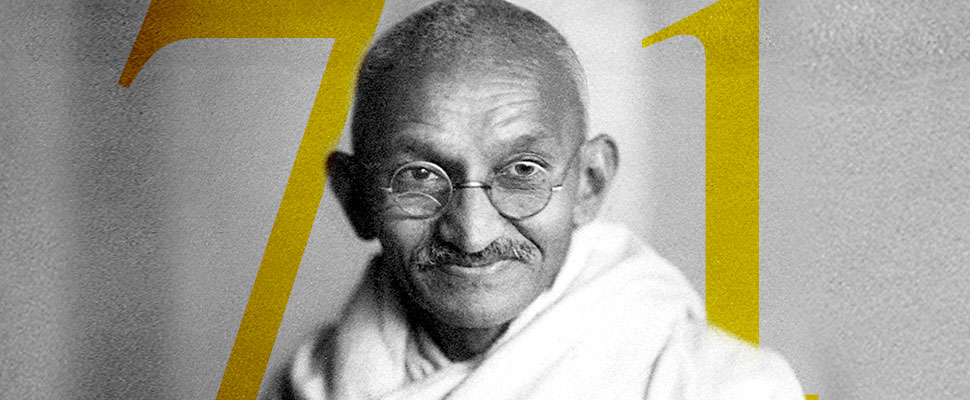 Mahatma Gandhi: 71 años de su muerte