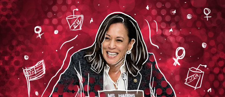 US elections: 'Kamala Harris: for the people'