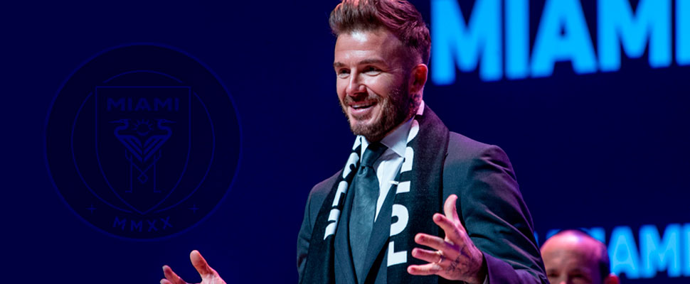 Why is David Beckham's football team in trouble?