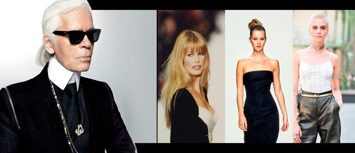 Los ángeles de Karl Lagerfeld