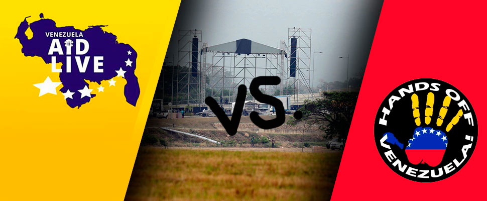 Battle of concerts: Venezuela Aid Live Vs Hands Off Venezuela
