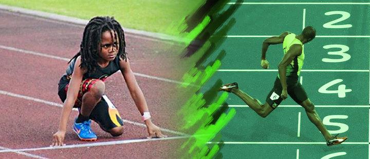 """Este es """"Blaze"""" Ingram, el niño velocista que comparan con Usain Bolt"""
