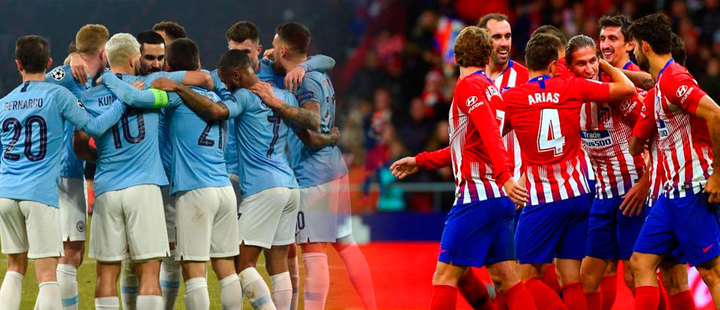 Atlético de Madrid and Manchester City stole the 'show' in the Champions League