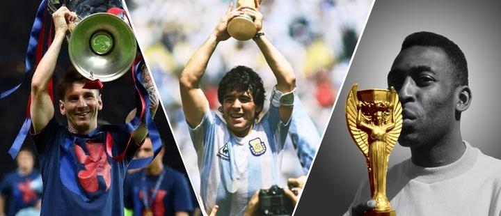 Están los 10 mejores futbolistas de la historia