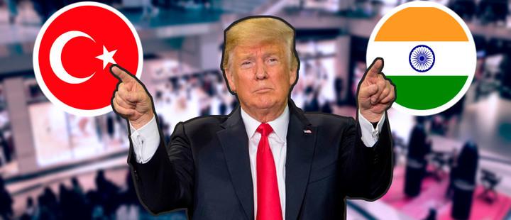 Trump: se avecina unaguerra comercial con India y Turquía