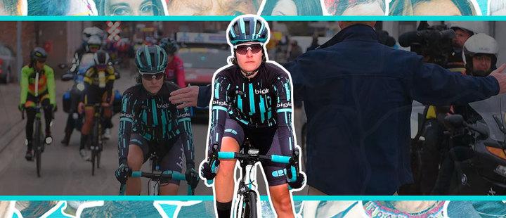 ¡Increíble! Paran carrera ciclística cuando una mujer alcanzó a los hombres