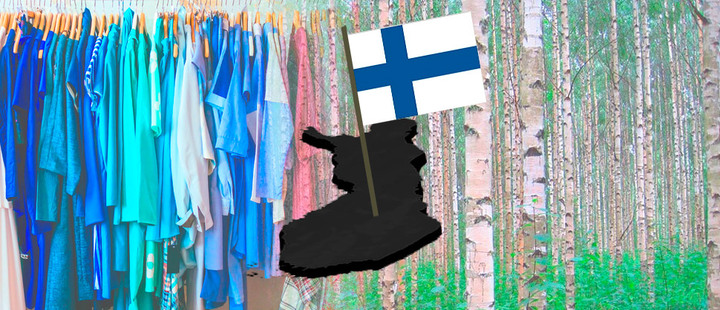 Finland manufactures clothes made from recyclable wood
