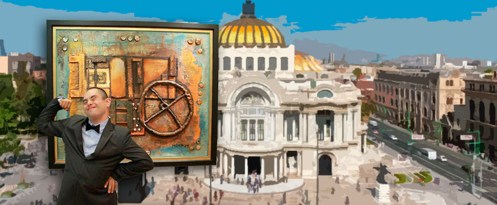 Artists with Down syndrome in Mexico's palace of fine arts