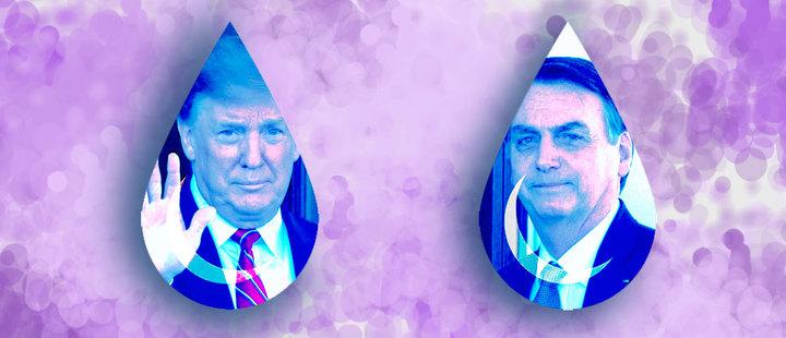 Como dos gotas de agua: Así fue la reunión entre Trump y Bolsonaro