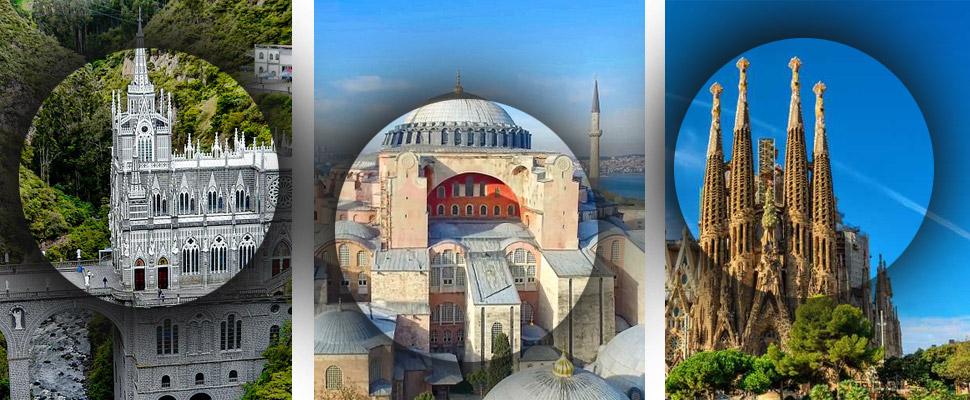 4 iglesias con arquitectura imponente