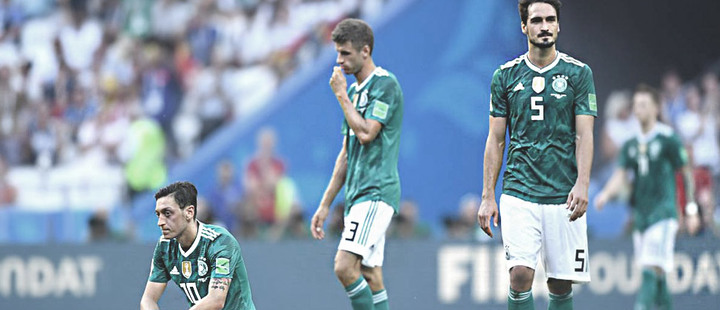 Why has the level of German soccer dropped in the last two years?
