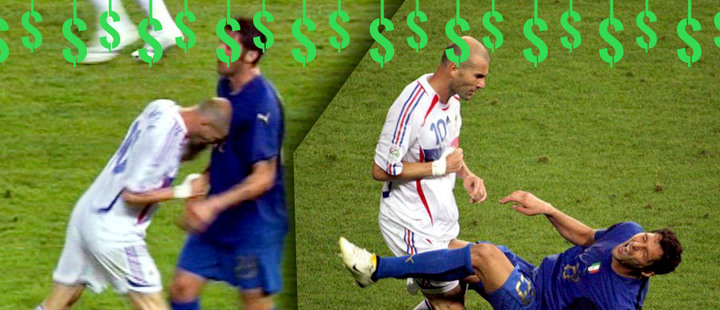 Find out how much soccer players pay for their carelessness