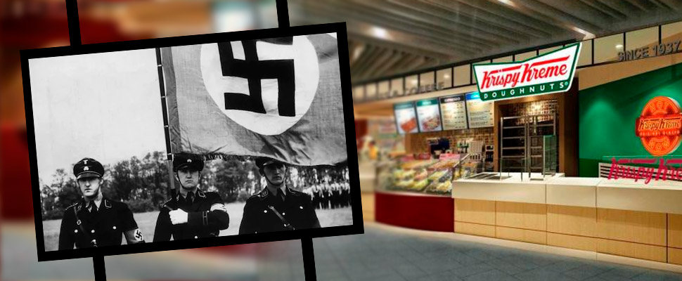 How much did the owners of Krispy Kreme donated after discovering their Nazi ties?